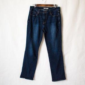 Levi's 505 Straight Leg Dark Rinsed Jeans (Size12)